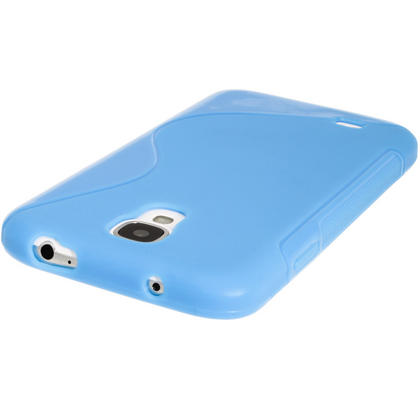 iGadgitz S Line Blue Gel Case for Samsung Galaxy S4 IV I9500 I9505 + Screen Protector Thumbnail 5