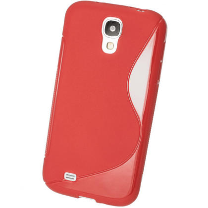 iGadgitz S Line Red Gel Case for Samsung Galaxy S4 IV I9500 I9505 + Screen Protector Thumbnail 3
