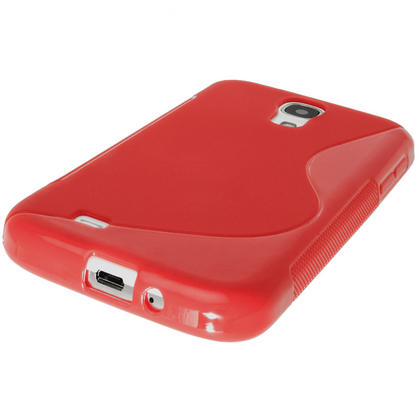 iGadgitz S Line Red Gel Case for Samsung Galaxy S4 IV I9500 I9505 + Screen Protector Thumbnail 4