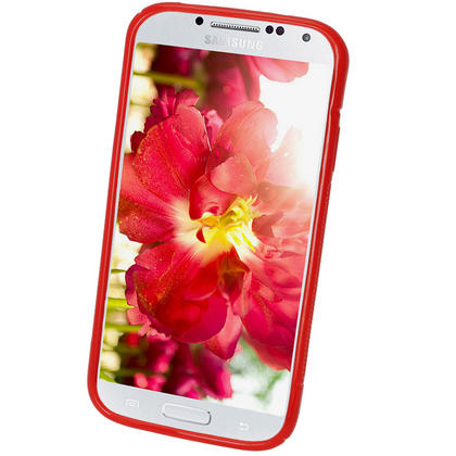 iGadgitz S Line Red Gel Case for Samsung Galaxy S4 IV I9500 I9505 + Screen Protector Thumbnail 2