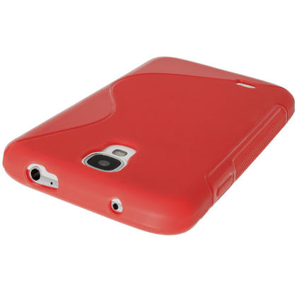 iGadgitz S Line Red Gel Case for Samsung Galaxy S4 IV I9500 I9505 + Screen Protector Thumbnail 5