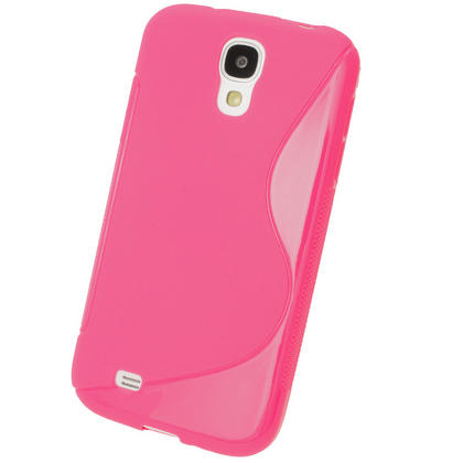 iGadgitz S Line Pink Gel Case for Samsung Galaxy S4 IV I9500 I9505 + Screen Protector Thumbnail 3