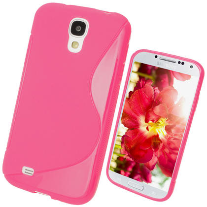 iGadgitz S Line Pink Gel Case for Samsung Galaxy S4 IV I9500 I9505 + Screen Protector Thumbnail 1