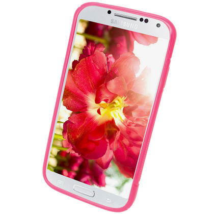 iGadgitz S Line Pink Gel Case for Samsung Galaxy S4 IV I9500 I9505 + Screen Protector Thumbnail 2