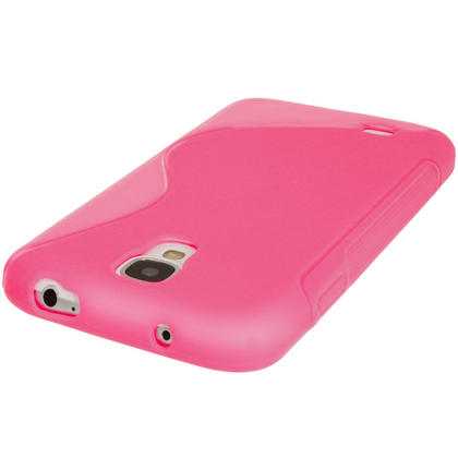 iGadgitz S Line Pink Gel Case for Samsung Galaxy S4 IV I9500 I9505 + Screen Protector Thumbnail 4