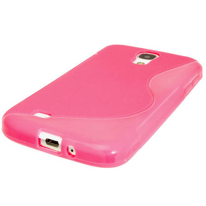 iGadgitz S Line Pink Gel Case for Samsung Galaxy S4 IV I9500 I9505 + Screen Protector Thumbnail 5