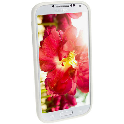 iGadgitz White Glossy Gel Case for Samsung Galaxy S4 IV I9500 I9505 + Screen Protector Thumbnail 2