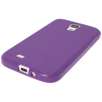 iGadgitz Purple Gel Case for Samsung Galaxy S4 IV I9500 I9505 + Screen Protector Thumbnail 4