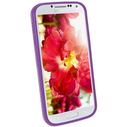iGadgitz Purple Gel Case for Samsung Galaxy S4 IV I9500 I9505 + Screen Protector Thumbnail 2