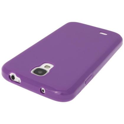 iGadgitz Purple Gel Case for Samsung Galaxy S4 IV I9500 I9505 + Screen Protector Thumbnail 5