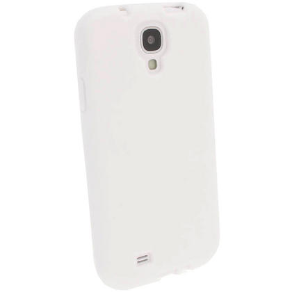 iGadgitz White Silicone Skin Case Cover for Samsung Galaxy S4 IV I9500 I9505 + Screen Protector Thumbnail 2