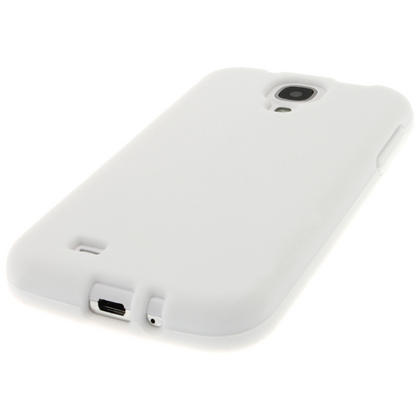 iGadgitz White Silicone Skin Case Cover for Samsung Galaxy S4 IV I9500 I9505 + Screen Protector Thumbnail 4