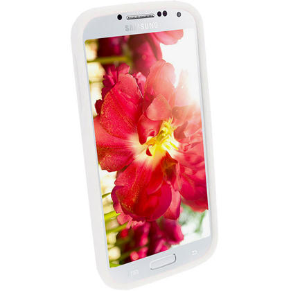 iGadgitz White Silicone Skin Case Cover for Samsung Galaxy S4 IV I9500 I9505 + Screen Protector Thumbnail 3