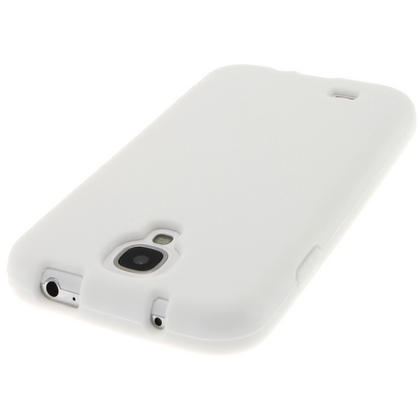 iGadgitz White Silicone Skin Case Cover for Samsung Galaxy S4 IV I9500 I9505 + Screen Protector Thumbnail 5