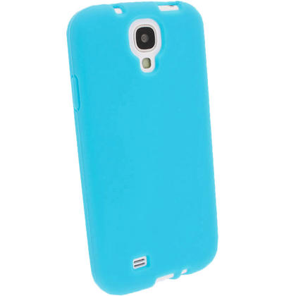 iGadgitz Blue Silicone Skin Case Cover for Samsung Galaxy S4 IV I9500 I9505 + Screen Protector Thumbnail 2