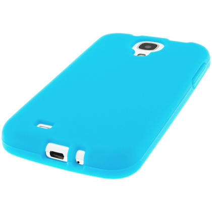 iGadgitz Blue Silicone Skin Case Cover for Samsung Galaxy S4 IV I9500 I9505 + Screen Protector Thumbnail 4