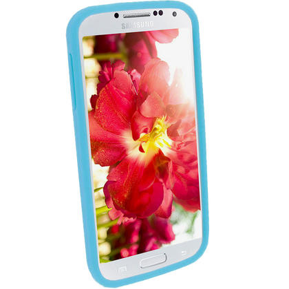 iGadgitz Blue Silicone Skin Case Cover for Samsung Galaxy S4 IV I9500 I9505 + Screen Protector Thumbnail 3