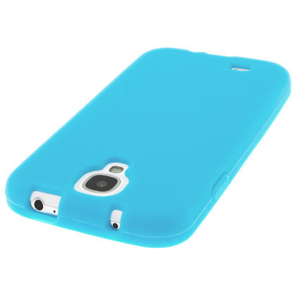 iGadgitz Blue Silicone Skin Case Cover for Samsung Galaxy S4 IV I9500 I9505 + Screen Protector Thumbnail 5
