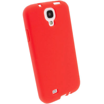 iGadgitz Red Silicone Skin Case Cover for Samsung Galaxy S4 IV I9500 I9505 + Screen Protector Thumbnail 2