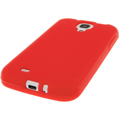 iGadgitz Red Silicone Skin Case Cover for Samsung Galaxy S4 IV I9500 I9505 + Screen Protector Thumbnail 4