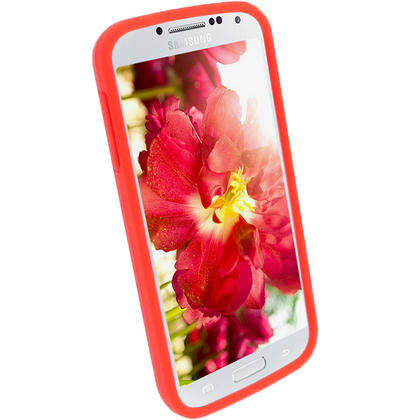 iGadgitz Red Silicone Skin Case Cover for Samsung Galaxy S4 IV I9500 I9505 + Screen Protector Thumbnail 3