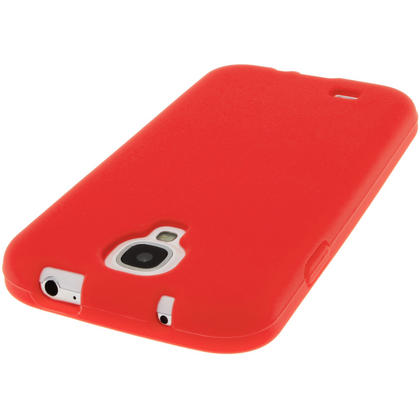 iGadgitz Red Silicone Skin Case Cover for Samsung Galaxy S4 IV I9500 I9505 + Screen Protector Thumbnail 5