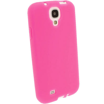 iGadgitz Pink Silicone Skin Case Cover for Samsung Galaxy S4 IV I9500 I9505 + Screen Protector Thumbnail 2