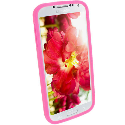 iGadgitz Pink Silicone Skin Case Cover for Samsung Galaxy S4 IV I9500 I9505 + Screen Protector Thumbnail 3