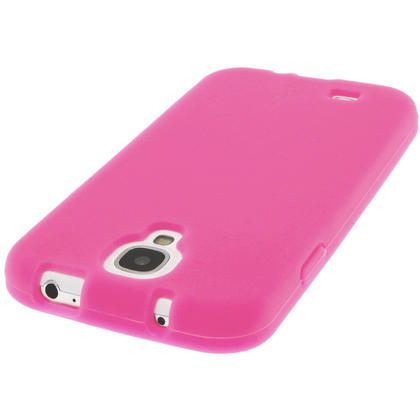 iGadgitz Pink Silicone Skin Case Cover for Samsung Galaxy S4 IV I9500 I9505 + Screen Protector Thumbnail 4