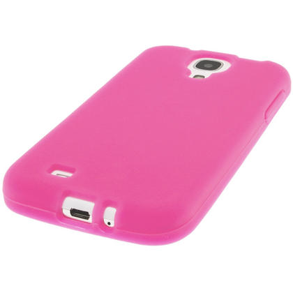 iGadgitz Pink Silicone Skin Case Cover for Samsung Galaxy S4 IV I9500 I9505 + Screen Protector Thumbnail 5