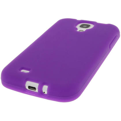 iGadgitz Purple Silicone Skin Case Cover for Samsung Galaxy S4 IV I9500 I9505 + Screen Protector Thumbnail 4