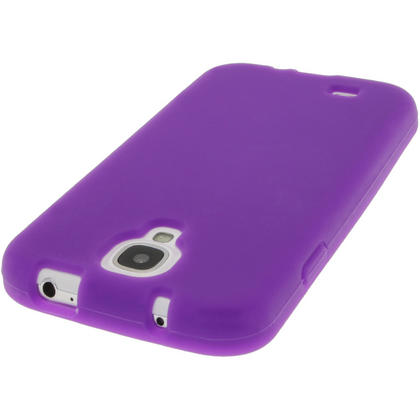iGadgitz Purple Silicone Skin Case Cover for Samsung Galaxy S4 IV I9500 I9505 + Screen Protector Thumbnail 5