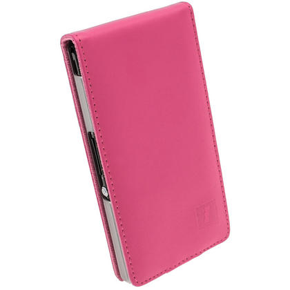 iGadgitz Pink Leather Case Cover Holder for Sony Xperia Z Android Smartphone Mobile Phone + Screen Protector Thumbnail 2