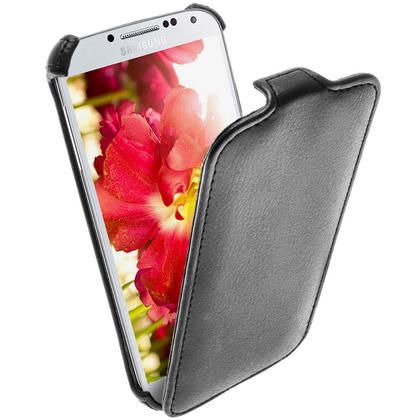 iGadgitz Black PU Leather Flip Case Cover Holder for Samsung Galaxy S4 IV I9500 I9505. With Sleep/Wake Function Thumbnail 5