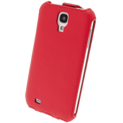 iGadgitz Red PU Leather Flip Case Cover Holder for Samsung Galaxy S4 IV I9500 I9505. With Sleep/Wake Function. Thumbnail 7