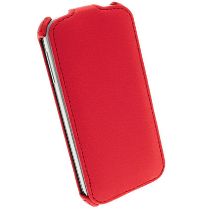 iGadgitz Red PU Leather Flip Case Cover Holder for Samsung Galaxy S4 IV I9500 I9505. With Sleep/Wake Function. Thumbnail 5