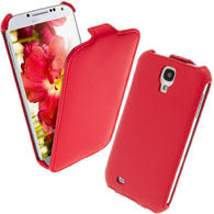 iGadgitz Red PU Leather Flip Case Cover Holder for Samsung Galaxy S4 IV I9500 I9505. With Sleep/Wake Function.