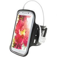 iGadgitz Black Reflective Anti-Slip Neoprene Sports Armband for Samsung Galaxy S4 IV I9500 I9505 & S4 Active I9295