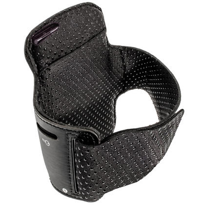 iGadgitz Black Reflective Anti-Slip Neoprene Sports Armband for Sony Xperia Z Thumbnail 2