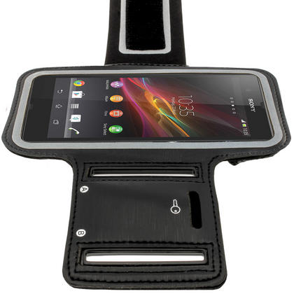 iGadgitz Black Reflective Anti-Slip Neoprene Sports Armband for Sony Xperia Z Thumbnail 6