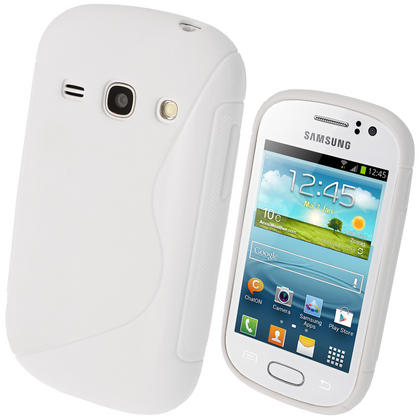 iGadgitz S Line White Gel Case for Samsung Galaxy Fame S6810 + Screen Protector Thumbnail 1