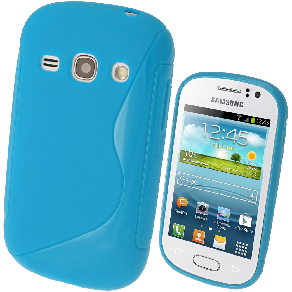 iGadgitz S Line Blue Gel Case for Samsung Galaxy Fame S6810 + Screen Protector