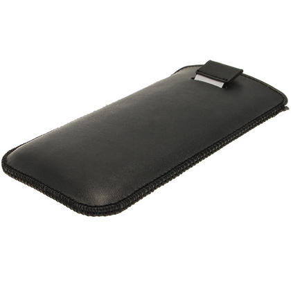 iGadgitz Black Leather Pouch Case Cover for HTC One M7 Android Smartphone Mobile Phone Thumbnail 3