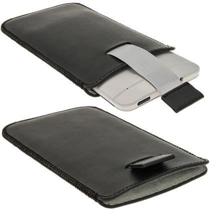 iGadgitz Black Leather Pouch Case Cover for HTC One M7 Android Smartphone Mobile Phone Thumbnail 2