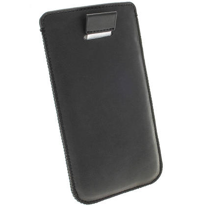 iGadgitz Black Leather Pouch Case Cover for HTC One M7 Android Smartphone Mobile Phone Thumbnail 4