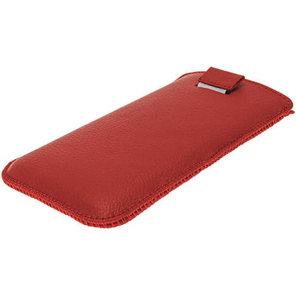 iGadgitz Red Leather Pouch Case Cover for HTC One M7 Android Smartphone Mobile Phone Thumbnail 3