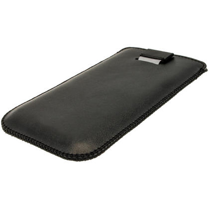 iGadgitz Black Leather Pouch Case Cover for Samsung Galaxy S4 IV I9500 Android Smartphone Mobile Phone Thumbnail 3