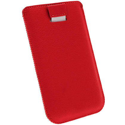 iGadgitz Red Leather Pouch Case Cover for Samsung Galaxy S4 IV I9500 Android Smartphone Mobile Phone Thumbnail 4
