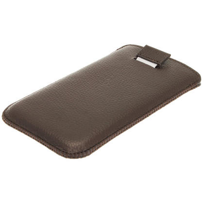 iGadgitz Brown Leather Pouch Case Cover for Samsung Galaxy S4 IV I9500 Android Smartphone Mobile Phone Thumbnail 3
