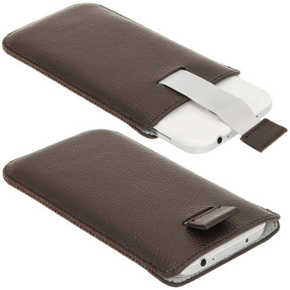 iGadgitz Brown Leather Pouch Case Cover for Samsung Galaxy S4 IV I9500 Android Smartphone Mobile Phone Thumbnail 2